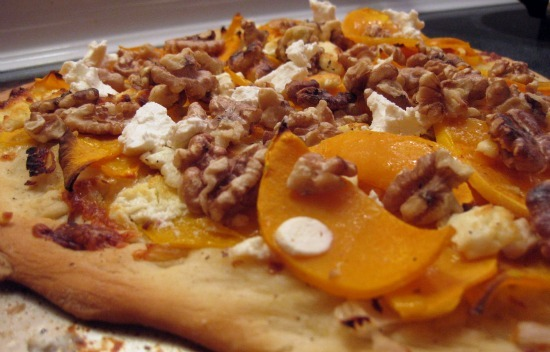 Post image for Potluck Sunday: Squash Pizza With Goat Cheese and Walnuts