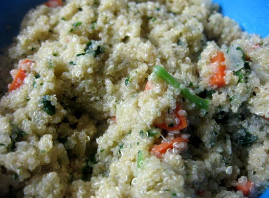 Post image for Quinoa with Carrots, Onions and Spinach