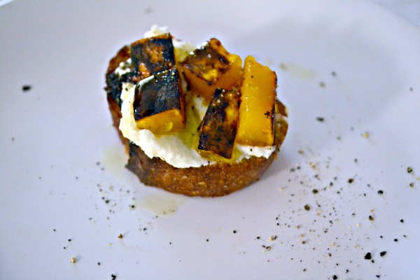 Post image for Butternut Squash, Ricotta Crostini