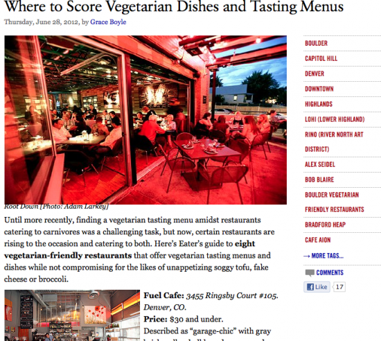 Post image for Where to Score Vegetarian Dishes and Tasting Menus