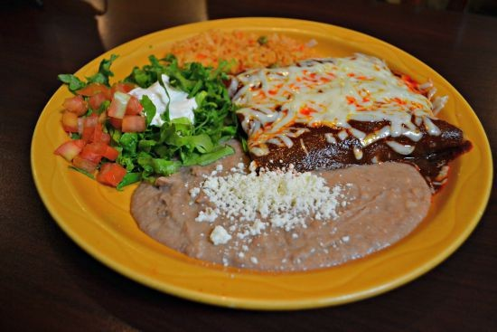 Sancho's in Boulder Chicken Enchiladas