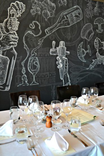 Arugula's New Dining Room and Chalk Art
