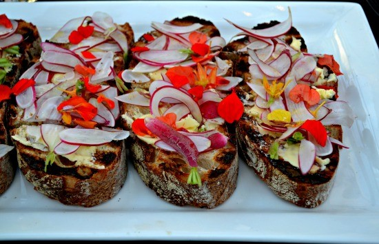 Breakfast Radish Crostini