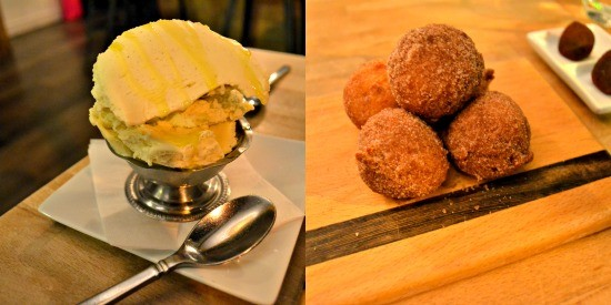 Olive Oil Gelato Zeppole and Truffles
