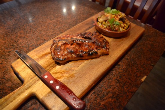 grilled pork blade steak