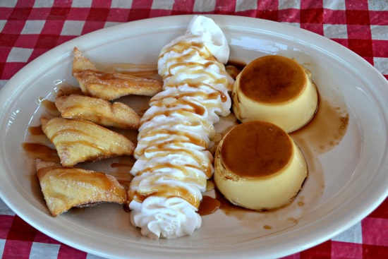 Flan and Sopapillas