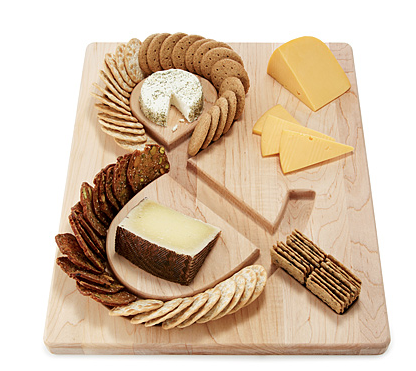 cheese & crackers serving board  Uncommon Goods