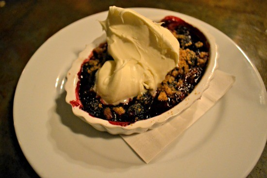 Blueberry Crisp with Mascarpone